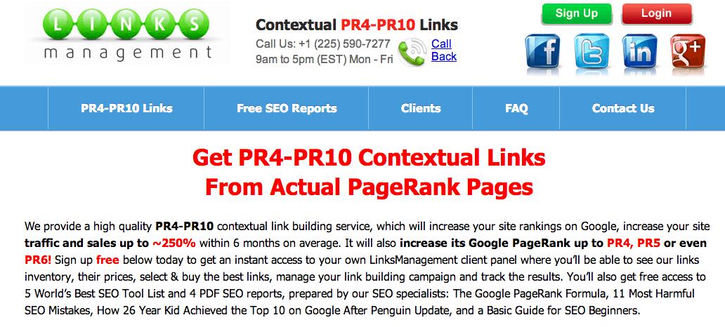 Links Management