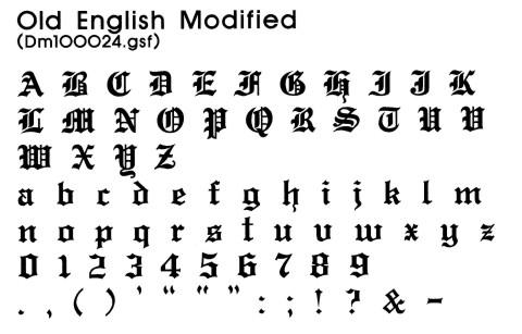 Choosing font