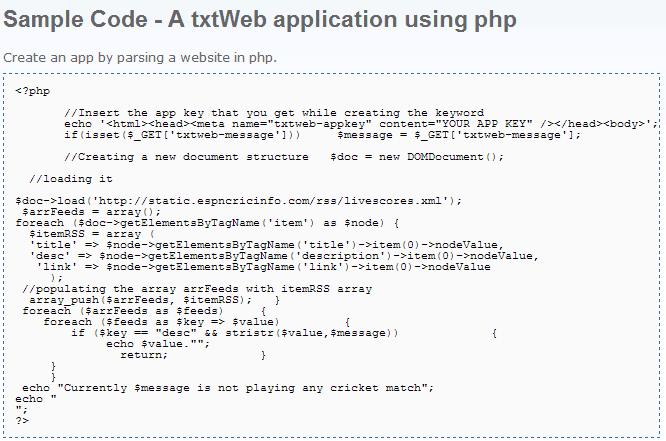 txtWeb - Sample Code