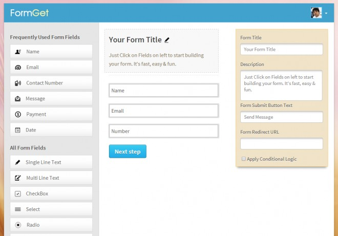 FormGet - Customize Forms