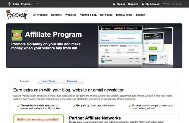 GoDaddy Affiliates