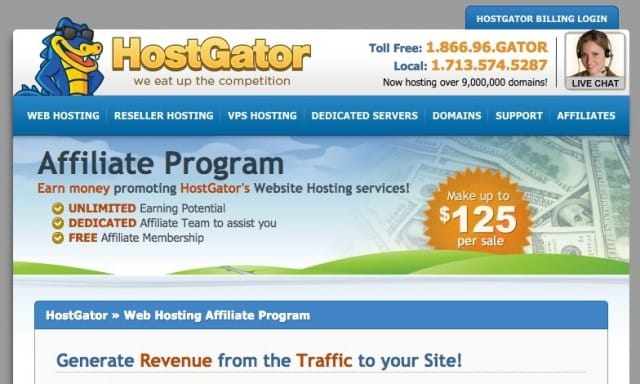 Top Affiliate Programs - HostGator Affiliates
