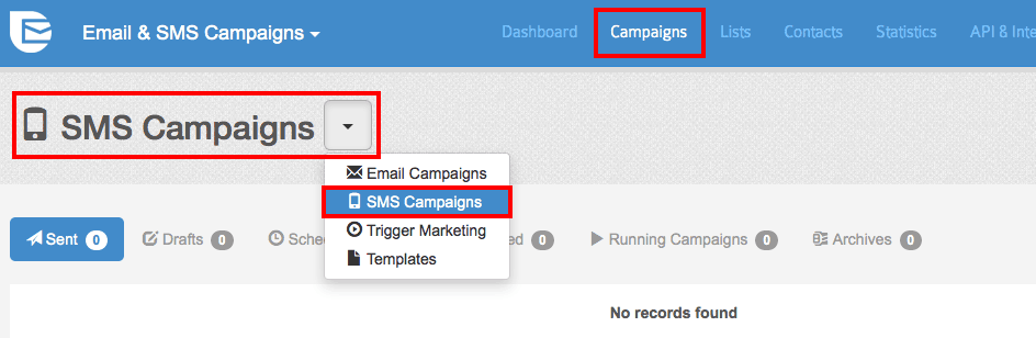 SendInBlue - SMS Campaigns