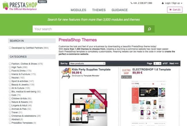PrestaShop Themes and Templates