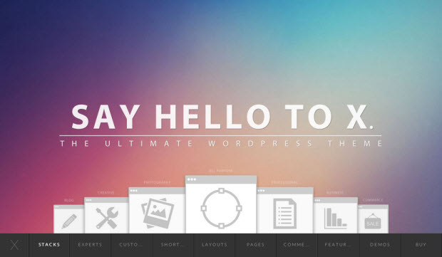 Say hello Theme X