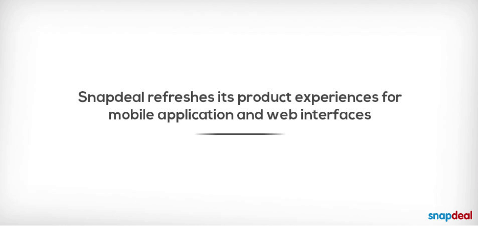 Snapdeal refreshes