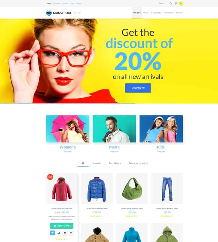 Monstroid (WooCommerce theme)