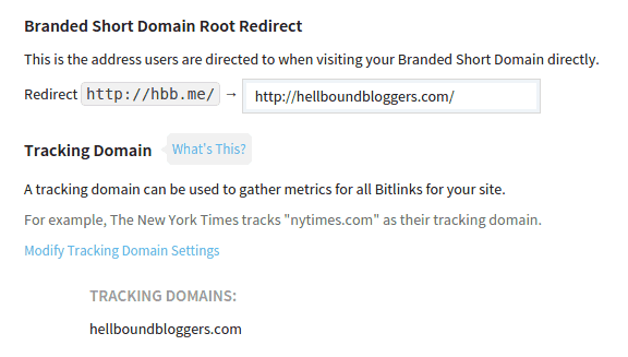 Branded Short Domain Root Redirect Tracking Domain Bitly