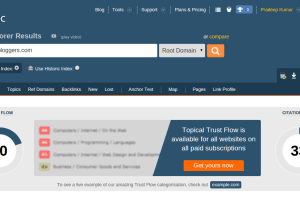 Check Trust Flow And Citation Flow Of Website - Majestic