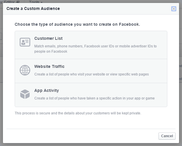 Facebook Ads Create Custom Audience