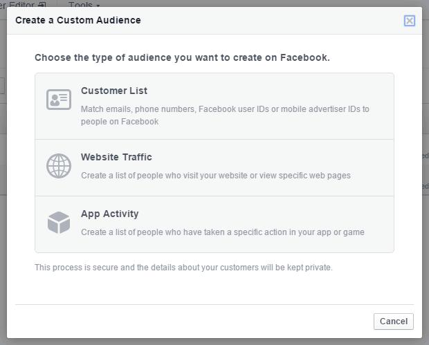 Facebook Ads Create Custom Audience