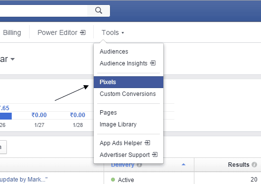 Facebook Ads Manager Tools Pixel