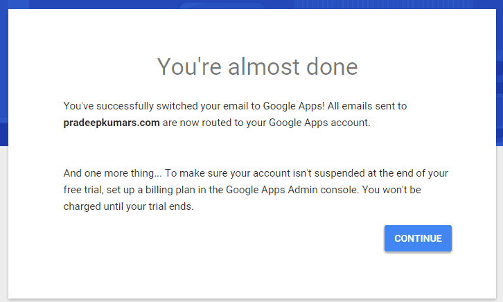 Google Apps Almost Done