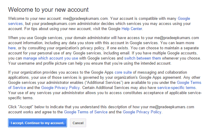 Google Apps for Work Accept
