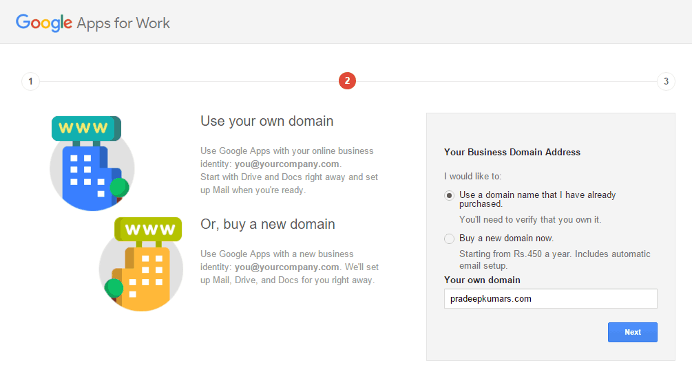 Google Apps for Work Domain Name