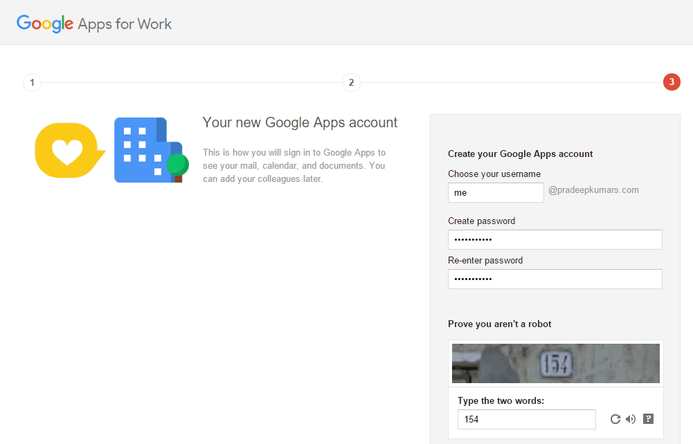 Google Apps for Work Domain Username