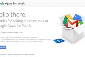 Google Apps for Work Start Free Trial