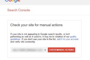 Google Search Console Webmaster Tools Check Manual Actions