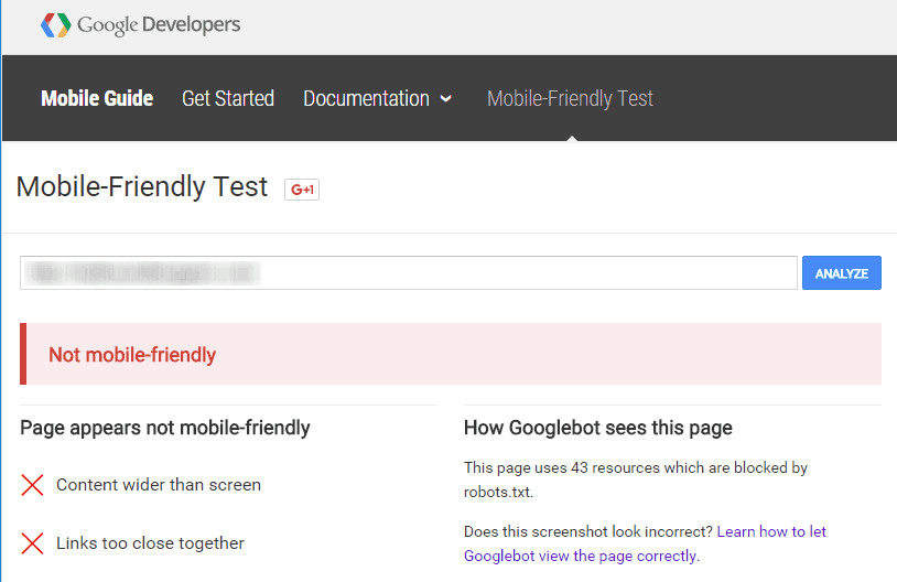 Google Tool Check Website Not Mobile Friendly