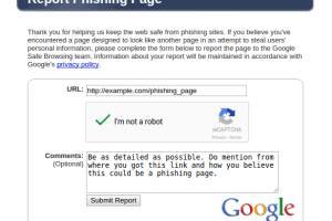 Report Phishing Websites And Pages