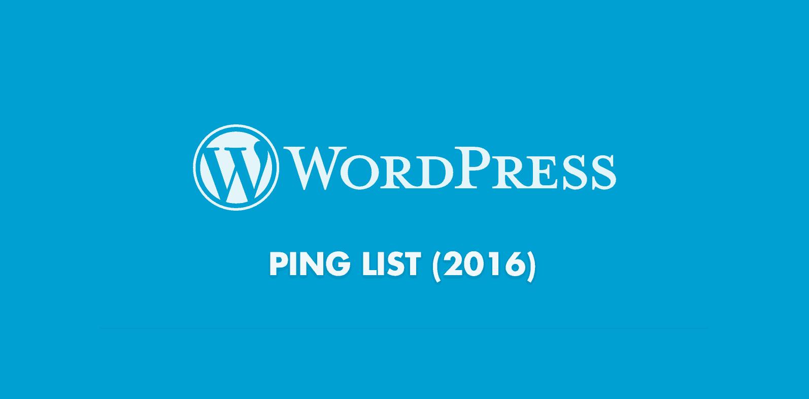 Ultimate WordPress Ping List
