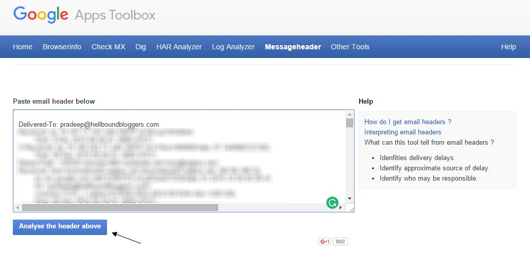 Emails Delivered Late Google Apps Toolbox Messageheader