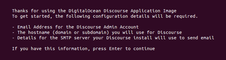 Install Discourse On DigitalOcean SSH