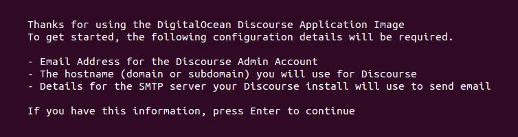 Install Discourse On DigitalOcean SSH