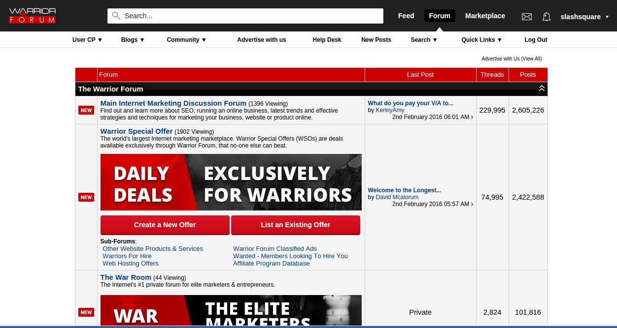 Warrior Forum - Best Internet Marketing Forums