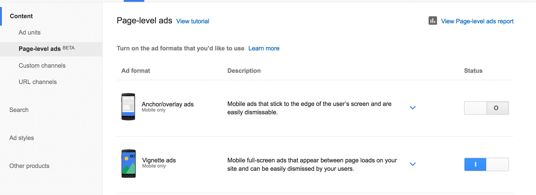 Enable Page Level AdSense Ads