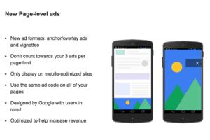 Full Page Level AdSense Ads