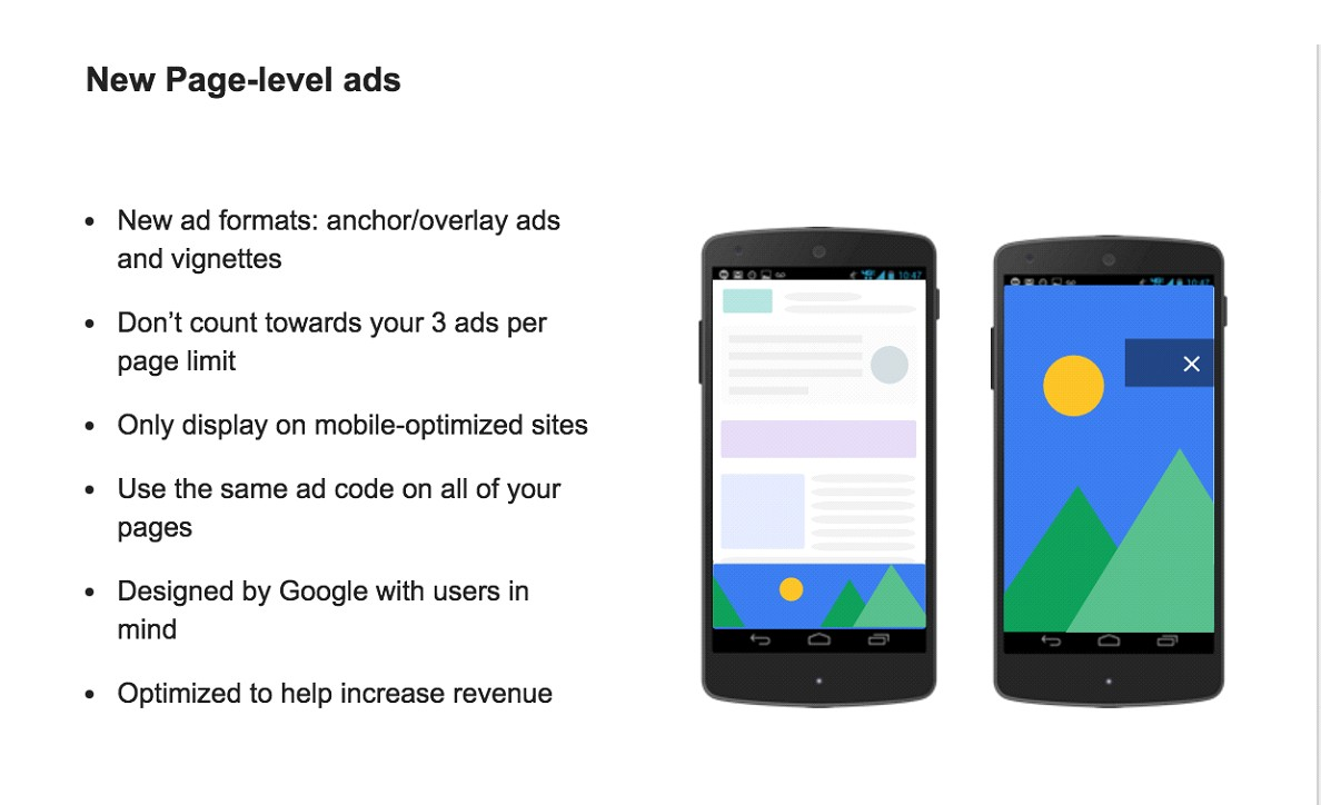 Full Page-Level AdSense Ads