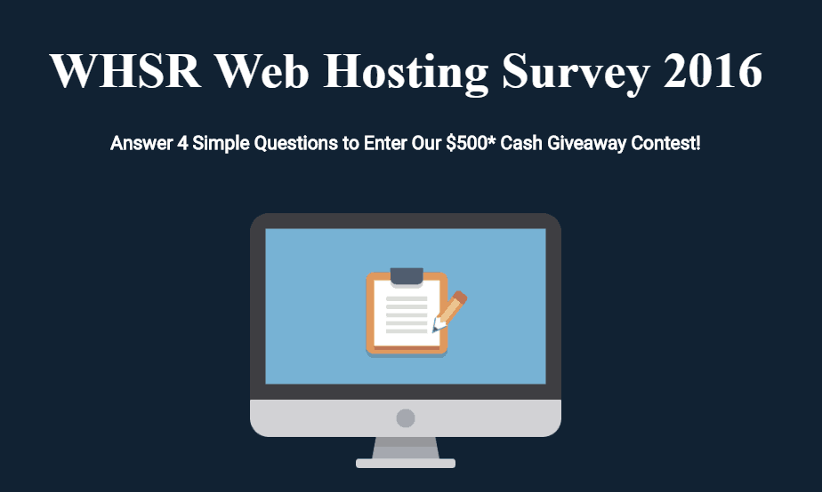 WHSR Web Hosting Survey