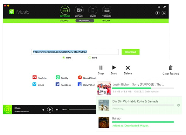 IMusic Download Music From Over 3000 Websites