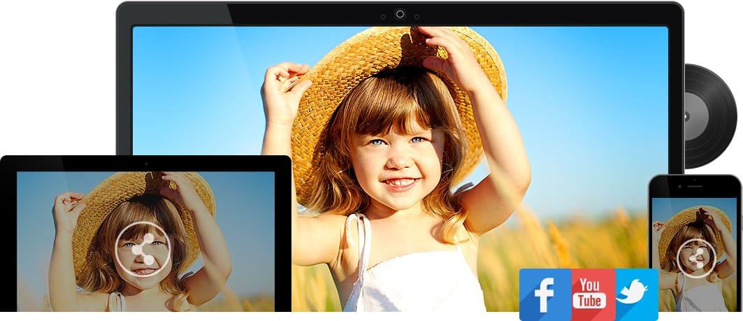 Iskysoft Slideshow Maker Social Sharing