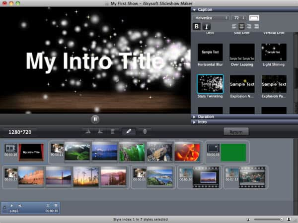 Slideshow Intro Credit