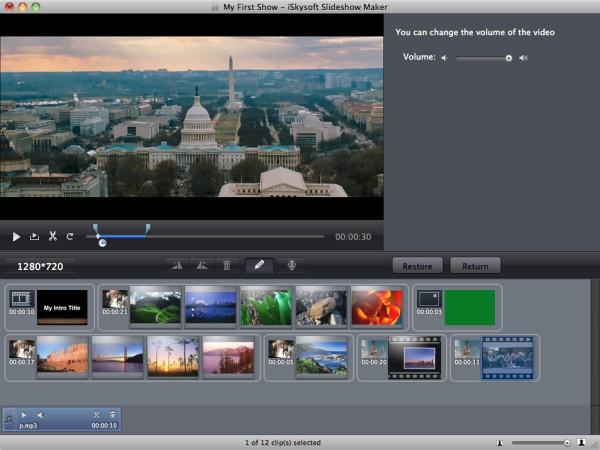 Slideshow Video Editing
