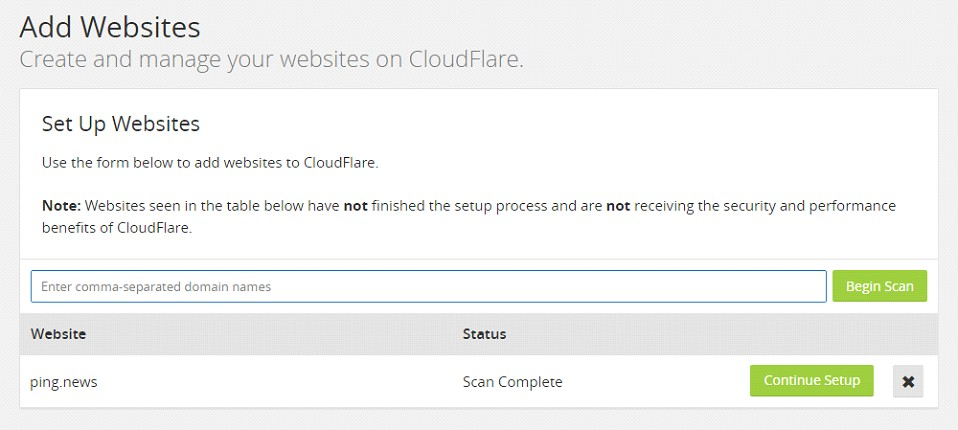 Scan Complete Cloudflare