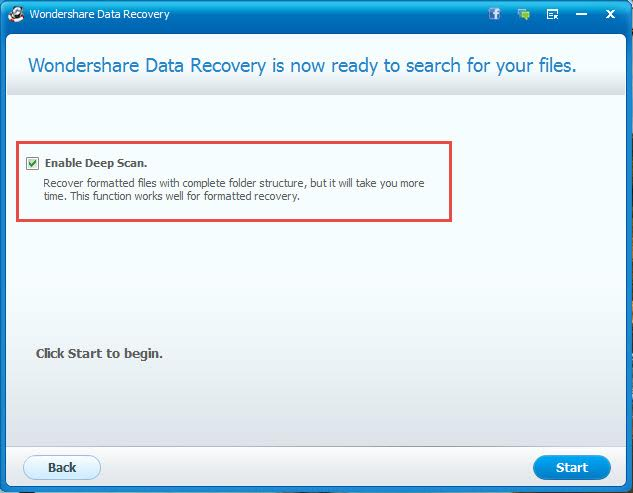 Wondershare Data Recovery Deep Scan
