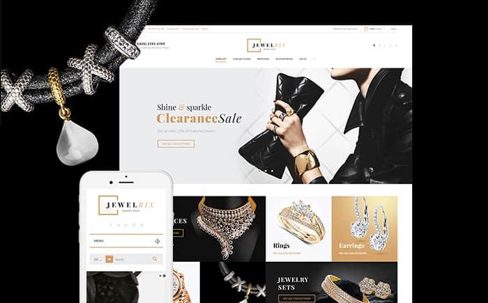 Jewelrix Jewelry Store PrestaShop Theme