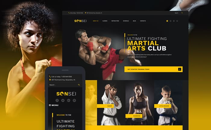 Sensei Martial Arts WordPress Theme
