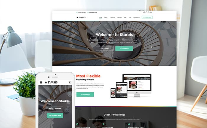 Starbis Multipurpose Website Template For Business