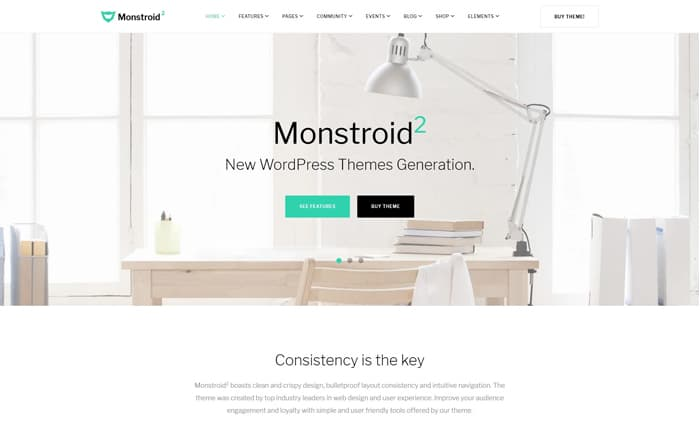 Monstroid Squared Is A Truly Multipurpose WordPress Theme That Features Literally Every Piece Of Functionality Needed To Build Blogs Portfolios