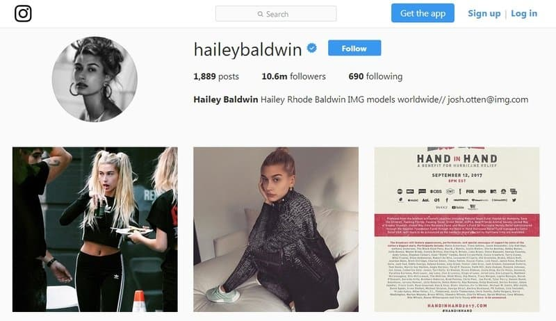 Hailey Baldwin Instagram