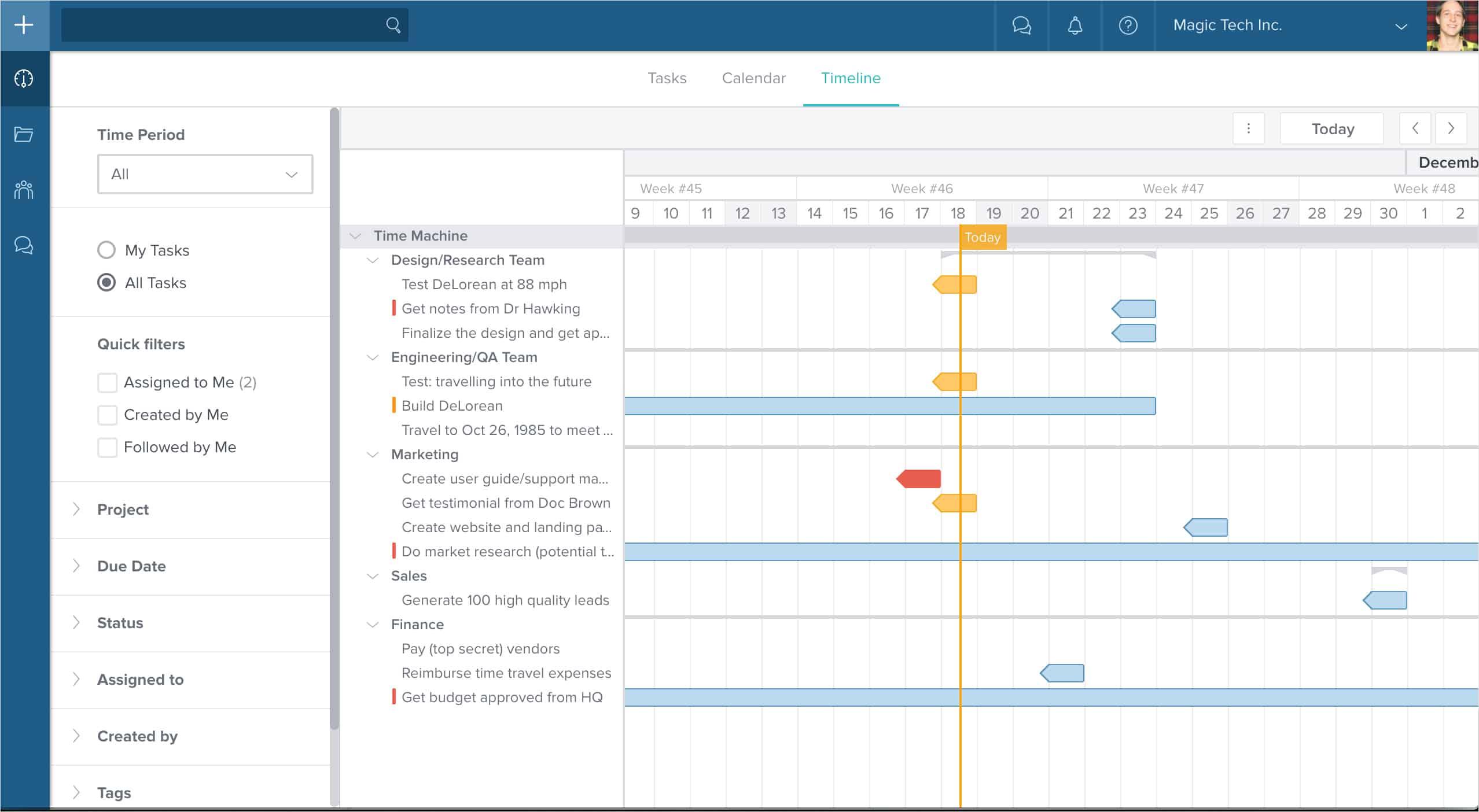 Taskworld Timeline