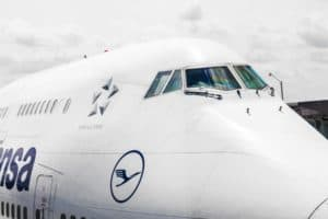 Lufthansa Flight Ready To Head To Runway