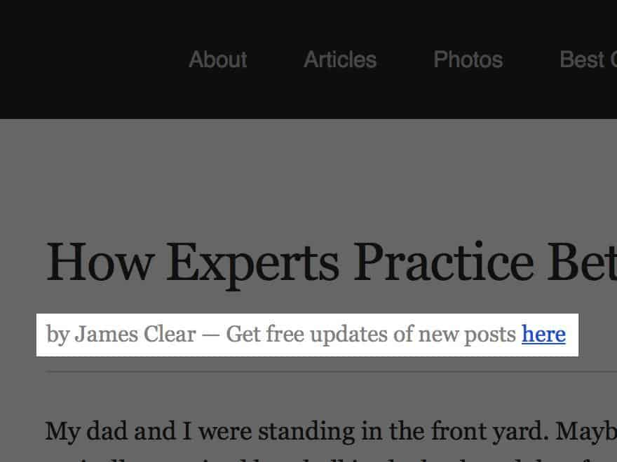 Make Use Of The Author Byline