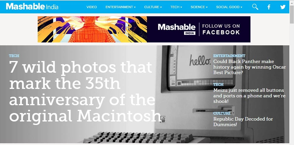 Guest Blogging Mashable
